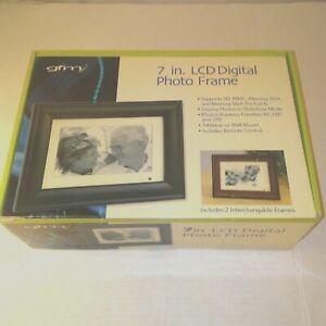 GFM 7 Inch LCD Digital Photo Frame 2 Interchangeable Frames