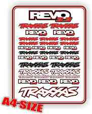 TRAXXAS REVO 3.3 STICKER SHEET RC CAR DECALS BNIP 1/10 NITRO TRUCK VINYL
