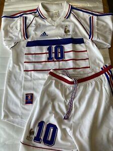 France National Team Adidas Zidane Jersey&Shorts 1998 FIFA World Cup Size L