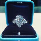 Pear Cut Cubic Zircon Women Wedding Jewelry Pretty 925 Silver Rings Size 5-10