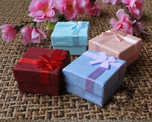 Wholesale Present Gift Boxes for Necklace Bracelet Jewelry Ring Earring Bowknot