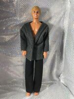 Vintage Ken Doll Molded Hair 1983 Mattel Malaysia Blonde Hair Blue Eyes
