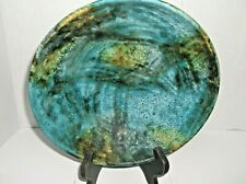 Ceramic Decorative Bowl Blue-Green-Gold- with design around rim