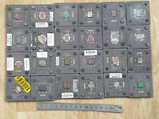 LOT 24 AMD   COLD VINTAGE CERAMIC CPU FOR GOLD SCRAP RECOVERY