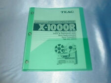 Teac X-1000R Reel To Reel Owners Manual 58 Pages Free Same Day Shipping