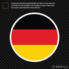 Round German Flag Sticker Die Cut Decal Self Adhesive Vinyl Germany circle