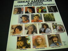 MARIE OSMOND Jerry Reed TANYA TUCKER others 1986 INDUSTRY ONLY Promo Display Ad