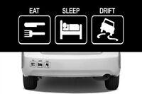 EAT SLEEP DRIFT VINYL DECAL STICKER SPORTS CAR JDM IMPORT RACE FUNNY RN