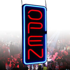 """Big Vertical Neon Open Sign Light Opening Restaurant Bar Light 23.6""""X11.8"""" New"""