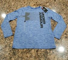 New with tags Under Armour long sleeve Boy shirt YLG Youth Large Blue Gray Black