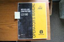 New Holland Ls180 Skid Steer Loader Operators Manual