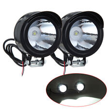 2PCS Motorcycle Bike 12V-80V 3W LED Front Metal Headlight Spot Light Lamp