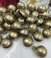 5PCS TIBETAN BRASS BELLS LOT  14mm Bead Craft Temple Herding Tiny Metal Ethnic