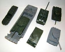 Airfix Konvolut, 7 Fertigmodelle, Landing Craft, Tiger, D.U.K.W., Centurion Tank