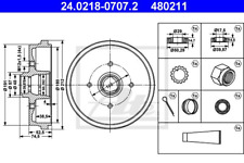 Bremstrommel - ATE 24.0218-0707.2