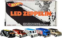 Hot Wheels Led Zeppelin Set Of 5 Collectible Die-Cast Vehicles Art Cars,