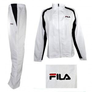 FILA Damen Tracksuit Sport Anzug Ladies Jogging Fitness Training weiß schwarz