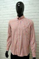 Camicia KAPPA Uomo Taglia Size M Maglia Shirt Man Maniche Lunga Cotone a Righe