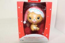 Baby's 1st First Christmas 2017 Ornament Girl Pink American Greetings Heirloom