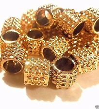 Lot of 20 European Charm Gold Plated Metal Beads Ship from USA P19