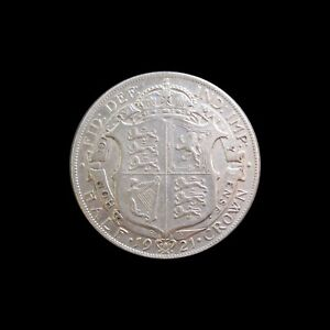 GREAT BRITAIN 1/2 CROWN GEORGE V SILVER 1921 KM 818.1a #3884#