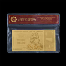 WR 2008 Zimbabwe 50 Trillion Dollars Note 24K Gold Foil Banknote Collection +COA