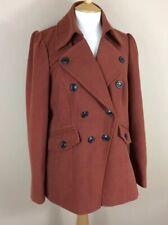 Next Coat Size 16,Winter Jacket Burnt Orange Good Condition Double Breasted Coat