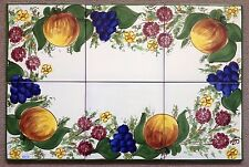 Vietri Pottery-23,3/4x15,3/4,set Of 6 Tiles Enza.Made/Painted by hand in Italy