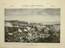 1903 PRINT WATERLOO FAMOUS BATTLE PICTURE FELIX PHILIPPOTEAUX IMPERIAL GUARD