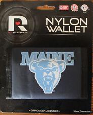 University of MAINE Bears Velcro Nylon Wallet Licensed College Tri Fold
