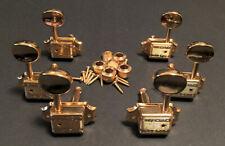 Guitar Parts - Tuner Set - WILKINSON Vintage Style Round - 3x3 - Gold