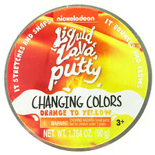 Nickelodeon Liquid Lava Putty Changing Colors Orange to Yellow 1.764 oz New