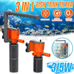 Spray Air Aquarium Water Pump Submersible Fish Tank Fountain Water Filter Pond