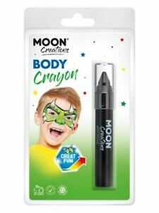 Moon Creations Body Crayons, Black., Facepaint/Carnival/Party Makeup