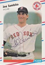 1988 Fleer Signed #364 Joe Sambito Red Sox Pitcher Autograph