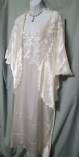 VENTURA ANKLE LENGTH IVORY CHARMEUSE LACE  NIGHTGOWN AND JACKET SIZE 3X