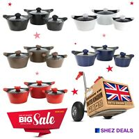 Non Stick Aluminium Stockpots Induction Energy Preservation Casseroles With Lid