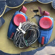 RARE VINTAGE REMCO WALKIE TALKIES SPACE MODEL QX-2 RARE SPACE TOY