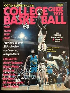 1975 Cord Sportfacts College Basketball Guide David Thompson Nice Condition
