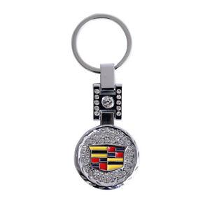 Chrome Diamond Type Cadillac Car Key Ring Keychain for Escalade ATS CTS DTS XTS