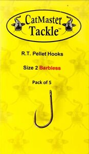 CatMaster Tackle R.T. Pellet Hooks Size 2 Barbless