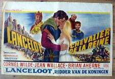 belgian poster peplum LANCELOT AND GUINEVERE, CORNEL WILDE, JEAN WALLACE