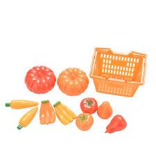 11 Pcs/set Doll Fruit Vegetables Basket Set for Barbies Dolls Kids Toys
