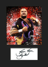 BAMBAM BIGELOW #1 (WWE) Signed (Reprint) Photo A5 Mounted Print - FREE DELIVERY