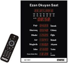 ERATEC Gebetsuhr AZ-1001 Gr M Moschee Uhr Azan Uhr Fajr Moscheeuhr Ezan Saati