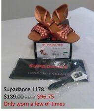 "Ballroom Dance Latin shoes, Supadance 1178, dark tan satin, 2½"", UK 4½ (US 6½)"
