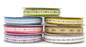 12MM SCALLOPED EDGE / LACE EDGE /PICOT FLORAL EMBROIDERED BRAID/RIBBON /TRIMMING