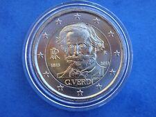 "♣ Pièce 2 euros commémorative ITALIE 2013 "" Giuseppe Verdi ""  sous capsule ♣"