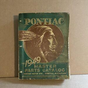 Original 1949 Pontiac Master Parts Catalog, General Motors, USA, 40s,Automobilia