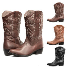 SheSole Womens Western Cowgirl Cowboy Boots Cuban Heels Wedding Shoes Size 3-9